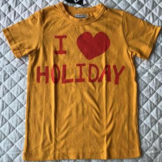 """オイル(OIL)の新品★OIL★""""I ❤︎ HOLIDAY"""" 黄色Tシャツ140cm(130cm)(Tシャツ/カットソー)"""