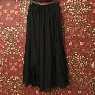 GU - コットンマキシスカート フリーサイズ