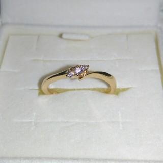ヨンドシー(4℃)のEAU DOUCE 4℃ 18金 ダイヤモンド リング(リング(指輪))