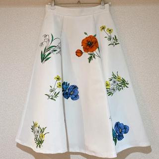 石原さとみ 花柄スカート