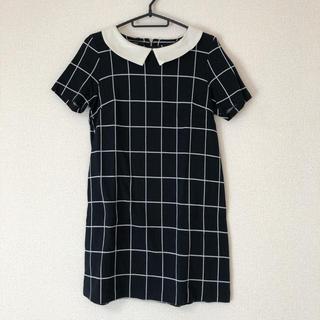 バナーバレット(Banner Barrett)の♡美品♡バナーバレット 襟付きギンガムチェックワンピース(ミニワンピース)