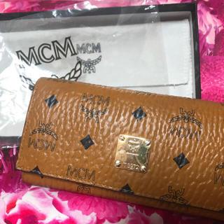 エムシーエム(MCM)のMCM 長財布 三つ折財布 キャメル(財布)