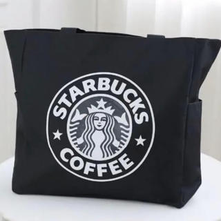 Starbucks Coffee - 【スターバックス】Starbucks  トートバック ブラック38cm×38cm