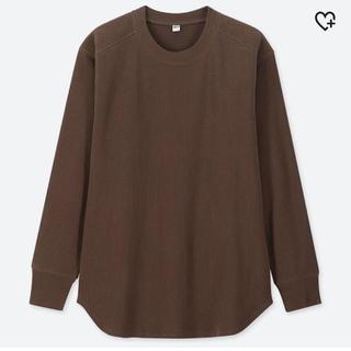 ユニクロ(UNIQLO)のUNIQLO コットンリブクルーネックT  XL(Tシャツ(長袖/七分))