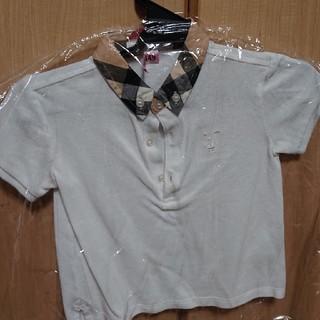バーバリー(BURBERRY)のバーバリー ポロシャツ 2Y ホワイト(ブラウス)