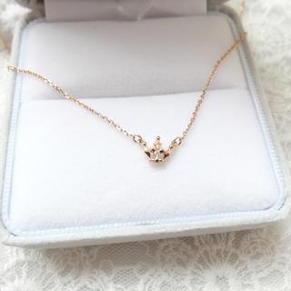 ノジェス(NOJESS)のノジェス  ネックレス K10 ピンクゴールド ダイヤモンド(ネックレス)