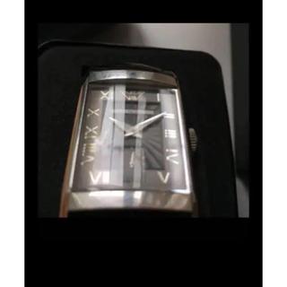 エンポリオアルマーニ(Emporio Armani)の元箱なし  アルマーニ 腕時計 ブラック スクエア(レザーベルト)