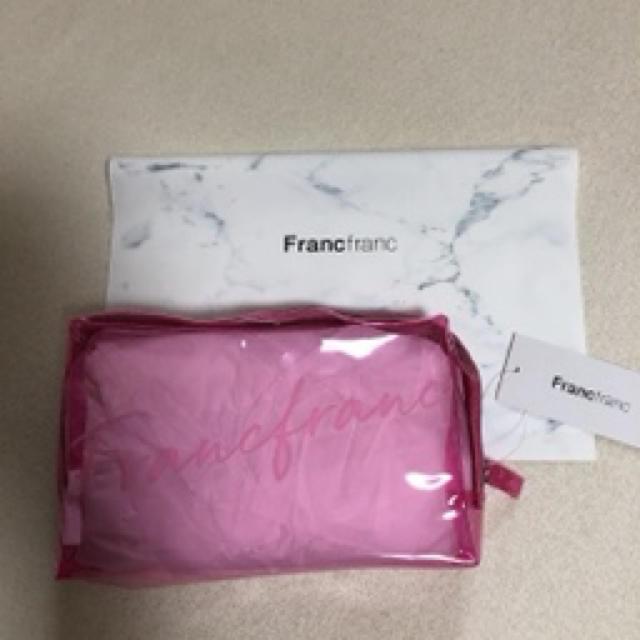Francfranc(フランフラン)のFrancfranc☆ビニールポーチ ピンク レディースのファッション小物(ポーチ)の商品写真