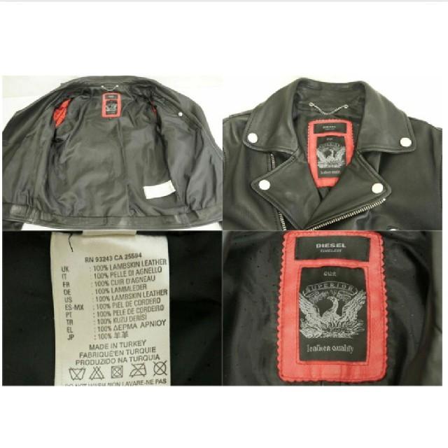 DIESEL(ディーゼル)のDIESEL 羊革。ダブルライダースジャケット メンズのジャケット/アウター(レザージャケット)の商品写真