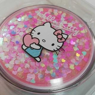 ハローキティ - サンリオ キティ コンパクトミラー キラキラ ホログラム ハート ピンク 鏡