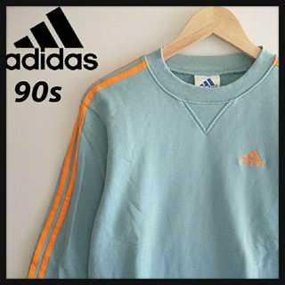 アディダス(adidas)の952 レアカラー adidas 90年代製 胸刺繍 スウェット 3ストライプ(スウェット)