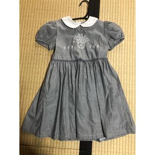 familiar - 美品 キッズ 女の子 ワンピース 半袖 120 夏服 セレモニー