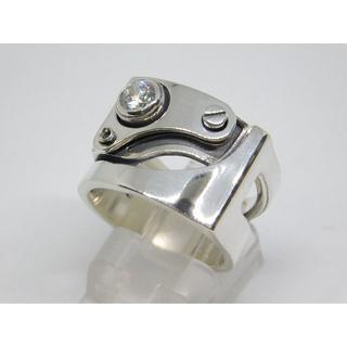 ドクターモンロー(Dr.MONROE)の新品 未使用 16号 Dr Monroe メカニカル リング ダイヤ ジルコニア(リング(指輪))