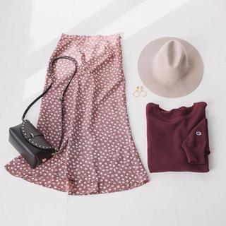 IENA SLOBE - SLOVE IENA   フラワープリントバックフレアスカート
