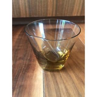 スガハラ(Sghr)の美品 sugahara 素敵なグラス タンブラー イエローブラウン(グラス/カップ)