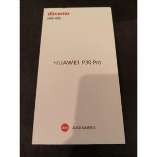 アンドロイド(ANDROID)の新品未使用 ドコモ SIMフリー HUAWEI P30pro HW-02L黒 1(スマートフォン本体)
