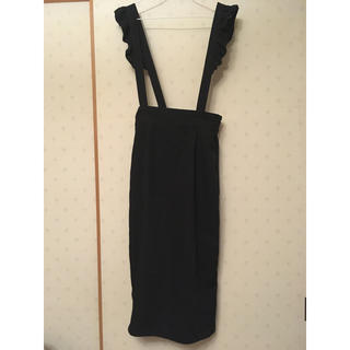 w closet - w closet♡フリルサス付きスカート黒♡ダブルクローゼット