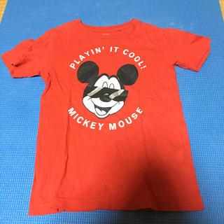 ユニクロ(UNIQLO)の120㎝ UNIQLO Mickey 半袖Tシャツ(Tシャツ/カットソー)