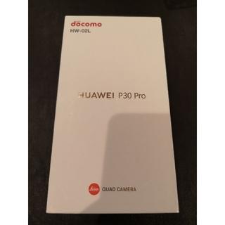 アンドロイド(ANDROID)の新品未使用 SIMフリー ドコモ HUAWEI P30Pro HW02L 黒 2(スマートフォン本体)