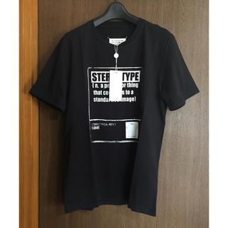 Maison Martin Margiela - 黒50新品 メゾン マルジェラ ステレオタイプ プリント Tシャツ ブラック