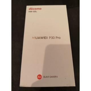 アンドロイド(ANDROID)の新品未使用 SIMフリー ドコモ HUAWEI P30Pro HW02L 青3 (スマートフォン本体)