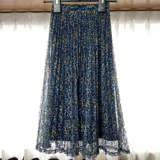 ザラ(ZARA)の美品*WEGO フラワー レース プリーツ スカート*ウィゴー(ロングスカート)