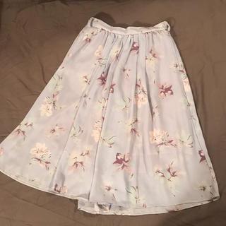 ダズリン(dazzlin)のダズリン 水色 ふんわりワイドパンツ スカート(ロングスカート)