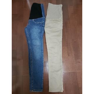 ムジルシリョウヒン(MUJI (無印良品))の無印良品 マタニティデニム パンツ 2本セット(マタニティボトムス)