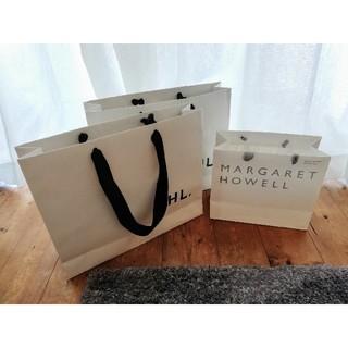 マーガレットハウエル(MARGARET HOWELL)の3点セット マーガレット・ハウエル MHL 紙 ショップ ブランド 手さげ 袋(ショップ袋)