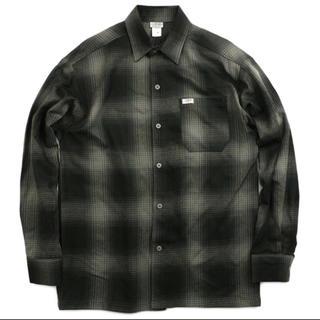 カルトップ(CALTOP)のCALTOP チェックシャツ L ブラック×グレー(シャツ)