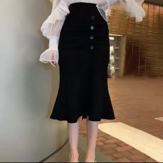 ザラ(ZARA)のニットスカート(ひざ丈スカート)