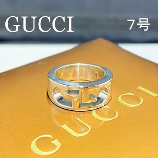 グッチ(Gucci)の新品仕上 グッチ GUCCI ダブル Gロゴ 型抜き シルバー 925 リング(リング(指輪))