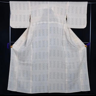 【送料無料】大人気!塩沢御召 紬 夏着物 正絹 単衣 156cm 夏帯 小紋 帯(着物)