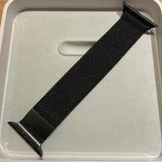 アップルウォッチ(Apple Watch)の(正規品)Apple Watch Milanese Loop 38mm ブラック(金属ベルト)