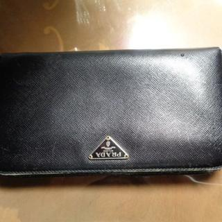 PRADA - プラダPRADA 長財布 ブラック 使用感あり