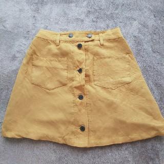 ウィゴー(WEGO)のWEGO BROWNY スカート ミニスカート 台形 デニム イエロー(ミニスカート)