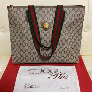 グッチ(Gucci)の美品 貴重 GUCCI オールド グッチ シェリーライン トート バッグ 横型(トートバッグ)