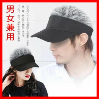 204 銀 かつら 帽子 サンバイザー(その他)