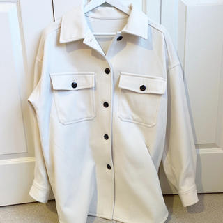 ジーユー(GU)のGU  オーバーサイズシャツジャケット(ノーカラージャケット)