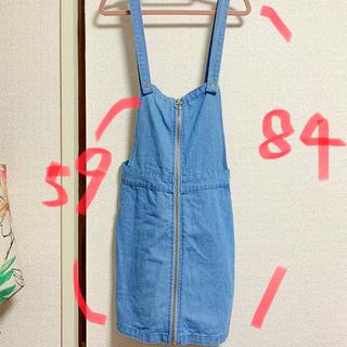 シマムラ(しまむら)のデニム サロペット ジャンパースカート 新品未使用(サロペット/オーバーオール)