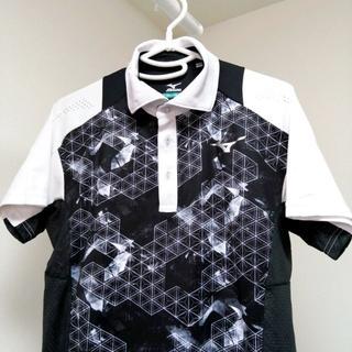 MIZUNO - ◆ミズノ 【メンズ ゴルフ 半袖 ポロシャツ Mサイズ 三角形ロゴ ホワイト】
