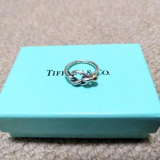 ティファニー(Tiffany & Co.)のティファニー ラブノットリング 百貨店 シルバー イエローゴールド(リング(指輪))
