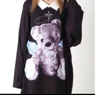 ミルクボーイ(MILKBOY)のTRAVAS TOKYO  天使と悪魔 bear collared BIG T(Tシャツ/カットソー(七分/長袖))
