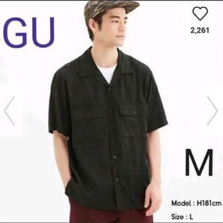 ジーユー(GU)のGU オープンカラーシャツ 半袖 ウォッシュド M(シャツ)