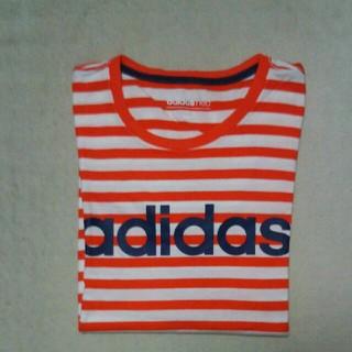 アディダス(adidas)のアディダス ネオ adidas neo ボーダー柄 Tシャツ(Tシャツ/カットソー(半袖/袖なし))
