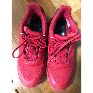 アディダス(adidas)のadidas スパイダーマンコラボ スニーカー RED 22.5(スニーカー)