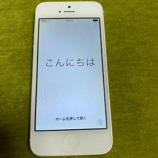 アップル(Apple)のiPhone5 シルバー(スマートフォン本体)
