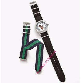 ディズニー(Disney)の ヴィンテージ調替えベルト付きミッキーマウス腕時計(腕時計)
