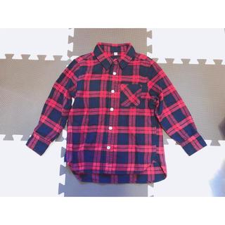 ムジルシリョウヒン(MUJI (無印良品))の【古着】無印良品 キッズネルシャツ【110cm】(Tシャツ/カットソー)