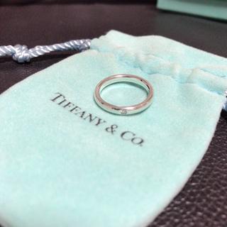 ティファニー(Tiffany & Co.)のティファニー ダイヤモンドバンドリング シルバー(リング(指輪))